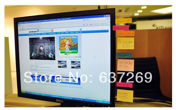 5pcs/lot Free Shipping PC Monitor Screen Post It Board Card Photo Sticky Notes Holder Organizer Memo pads board self-adhesive(China (Mainland))