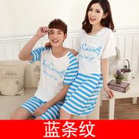 Summer lovers dress sleepwear fashion cartoon male women's letter twinset short-sleeve sleepwear casual lounge