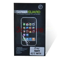 LCD Screen Matte Frosted Anti-glare Screen Protector Film with Cleaning Cloth For iPhone 4 4S 4G 10pcs/lot free shipping