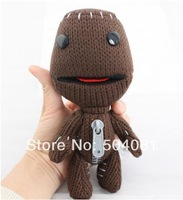 """2014 HOT 1 pcs 7"""" Little Big Planet Plush Toy Sackboy Cuddly Brown Knitted Stuffed Animal Doll funny figure Toys FREE SHIPPING"""