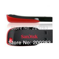 Free Shipping 100% Genuine Original Real SanDisk Cruzer Blade CZ50 8GB 16GB 32GB 64GB USB 2.0 Pen Flash Drive High Speed - Black
