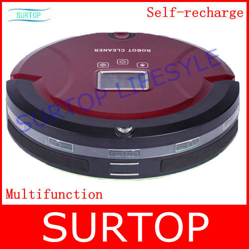 4 In 1 Multifunctional Robot Cleaner Vacuum,LCD, Wireless Remote,Similar Function To robot Roomba(China (Mainland))