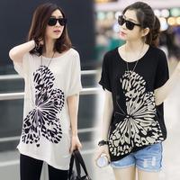 spring 2014 summer new large size women's modal Korean women bat shirt short-sleeved T-shirt shirt