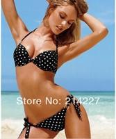 Wholesale New Design White/Black Spot Tankini Women Swimwear Holiday Bikini Sexy Beach Swim Wear Swimsuits Beachwear Bathers