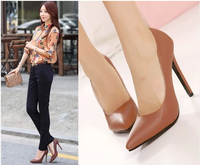 2014 fashion thin slim pointed toe thin heels high-heeled single shoes ol women's shoes spring and autumn