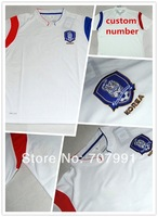 2014 WC Top Thailand Quality Korea Away White player version Ki Sung Yueng Football Soccer Jerseys  Uniform Embroidery Logo