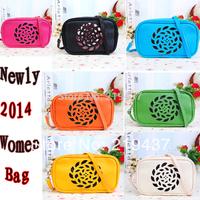 2014 new brand woman fashion shoulder bag,casual women's handbag PU leather messenger bag,lady's sweet totes bag.free shipping