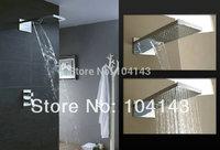 "Hot Sale Best Quality 22"" Luxury Square Rectangular Big Rainfall Wall Mounted Shower Head Chrome Shower Set 50038/2"