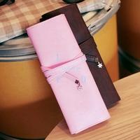 10PCS/LOT cosmetic bags designer makeup brushes holder for LadiesPortable pencil Pen Bag 5255