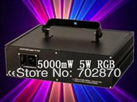 Factory direct sale!5000mW 5W RGB PT40K pps Animation DMX512 ILDA DJ Party Disco Club Stage Laser Light Free Shipping