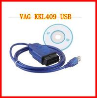 2014 Vag 409 VAG-COM 409.1 Vag Com 409.1 KKL OBD2 USB VAG409.1 Cable Scanner Scan Interface Free Shipping
