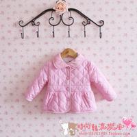 Fashion2013 winter female child baby cotton-padded jacket child wadded jacket outerwear