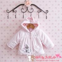 Female child baby 2013 winter thickening cotton-padded coat infant cotton-padded jacket