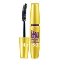 Free Shipping 100PCS only YELLOW PACKAGE  the magnum volum express smudgeproof mascara black 9.2ml makeup! Free shipping! makeup