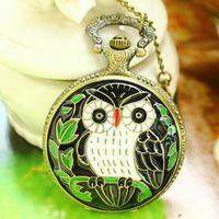 Free shipping wholesale dropship 2013 hot sale bronze vintage owl fashion quartz fob watch