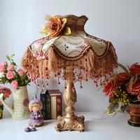 Fashion luxury fashion royal rustic ofhead fabric lamp gift decoration table lamp