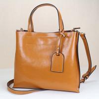 Promotion!! New arrival 2014 Women's Genuine wax leather handbag Shoulder bag Vintage bag Tote bag