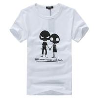 Lovers t-shirt male Women short-sleeve anime clothes teenage short-sleeve lovers popular male short-sleeve t-shirt
