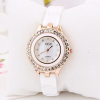 Ceramics Watches Women Ladies Wholesale Fashion Charm Style Big Rhinestone Rose Gold Luxury Design For Ladies Free Shipping