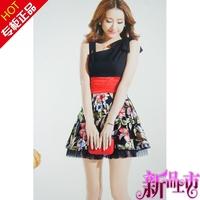 8268 2014 spring women's fashion elegant slim sleeveless one-piece dress