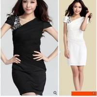 8107 2014 sexy women's ol slim hip slim one-piece dress