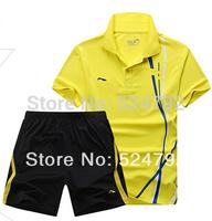 wholesale!Free shipping!2014 Li Ning Table tennis, badminton shirts game T - shirts + shorts  tennis men shirts