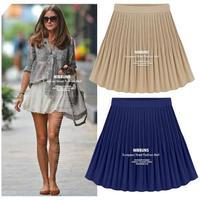 brand new 2014 summer autumn skirt high waist pleated short mini tulle school pleated cute skirt shorts pencil skirts female