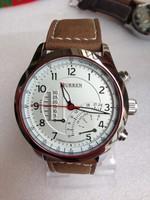 TOP quality Fashion CURREN Brand Men Wristwatches Leather Strap Clocks Japan Movement Quartz Watches Men Dress Relogio Hours
