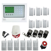 Wireless  SMS GSM  Alarm System  With Touch Screen Quad-Band LCD Display
