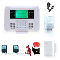 Wireless GSM PSTN Security Home Alarm System DIY kits LCD Display With Keypad