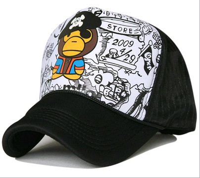 2014 summer milo line monkey hip-hop mesh cap street dancing truck hat 2color 1pcs free shipping(China (Mainland))