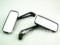 Free Shipping Black Rectangle Rearview Mirror For Honda Shadow VT VTX Yamaha V Star Max Virago