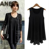 new 2014 european style autumn Summer Women Vest Tank sundresses casual dress girl Fashion Chiffon novelty dresses vestidos