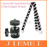 2in1  Mini Tripod Ballhead Ball Head  and Joby tripod Bearing 3.5kg Gorillapod Tripod New Large Portable Flexible Tripod Load