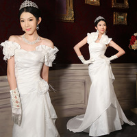 Bride tube top wedding dress formal dress 2014 fish tail bag wedding dress sweet elegant wedding dress 1212