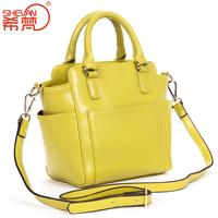 2014 spring and summer genuine leather women's handbag female fashion cowhide handbag one shoulder cross-body smiley bag