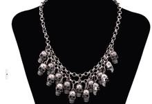 silver skull necklace price