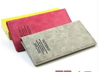 New 2014 Women's Fashion Genuine Leather Wallet Female Long Designer Thin wallet High Quality Slim wallet Free Shipping