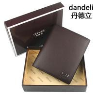 New 2014 Men Fashion Short Designer Wallet men's Pu Lether Card Holder Black and Brown Free Shipping