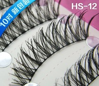 HS-12 Factory direct SALE Free shipping New 10 Pair CROSS False Eyelashes Eyelash Eye Lashes Voluminous