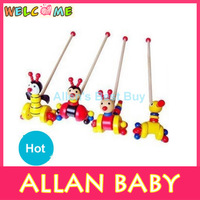 High Quality Hot Sale Wooden Educational Children Toys The Animal Trolley In Bulk Wholesale Toys QT007