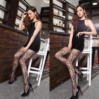 Sexy Womens Black Fishnet Pattern Jacquard Stockings Pantyhose Tights Dropshipping New Style 2014 Women Retro Lace Stockings
