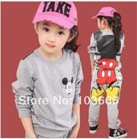 New Arrival , low profits kids Minnie Mickey sport suits boys girls cartoon set children's clothing long-sleeve shirt + pants