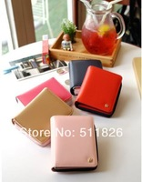 New 2014 Fashion Designer Handbags Updated Version PU Leather Crown Smart Pouch Bag Card Holders Women Wallet Purses# 5691