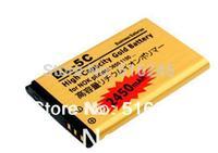2pcs/lot High Capacity 3.7V 2450mah Gold BL-5C BL 5C Battery for Nok 3650 1100 6230 6263 6555 1600 Free Shipping
