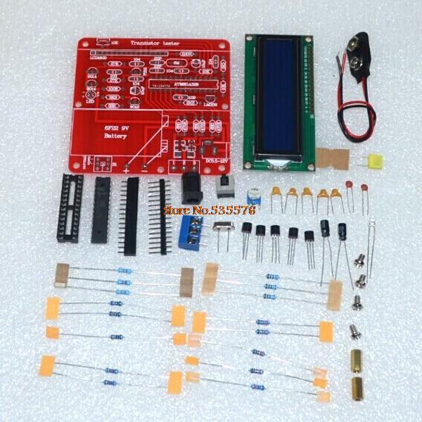 DIY KIT 2014 New Transistor Tester Capacitor ESR Inductance Resistor ...
