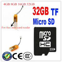SD card 4gb 8gb16gb32gb+TF card reader Micro SDHC Memory Card mini sd TF flash card for cellphone,tablet pc storage microsd 32gb