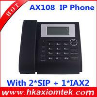 Axiomtek AX-108 SIP Phone With 2*SIP Lines+ 1*IAX2  Free shipping