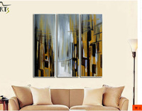 New modern abstract minimalist decoration oil painting the living room, triple combination oil painting