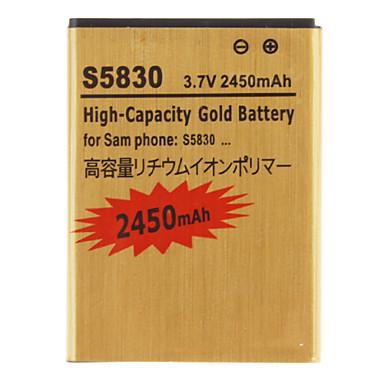 2450mAh Galaxy Ace S5830 Battery Ues for Samsung Free Shipping(China (Mainland))